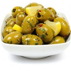 Olive verde con limone 1600 gr (per stuk)