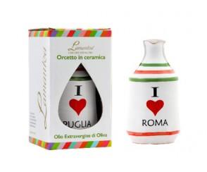 Olio di olive EV I LOVE keramiek kruikje 100ml (8 per doos)
