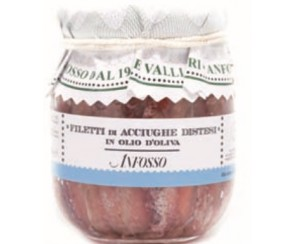 Filetti di acciughe distesi in olio di oliva - 180 gr (12 per doos)