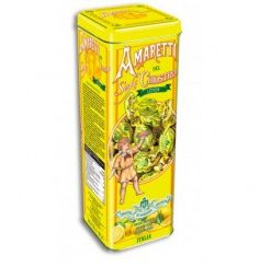 Amaretti soft tower tin lemon- 180gr (12 per doos)