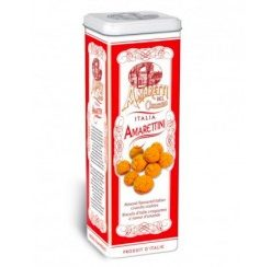 Amarettini crunchy tower tin - 225 gr (12 per doos)