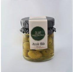Olive Verde Con Aglio 180 Gr (12 per doos)