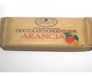 Barretta Fondente Arancio 100 gr (20 per doos)