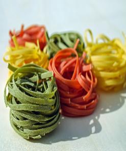 Gekleurde pasta