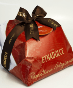 Panettone hand verpakt sinasappel chocolade