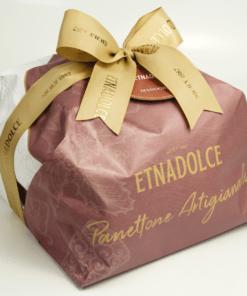 Panettone gevuld met amandel creme